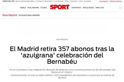Bënin tifo për Barcelonën  Reali përjashton nga stadiumi 357 të abonuar