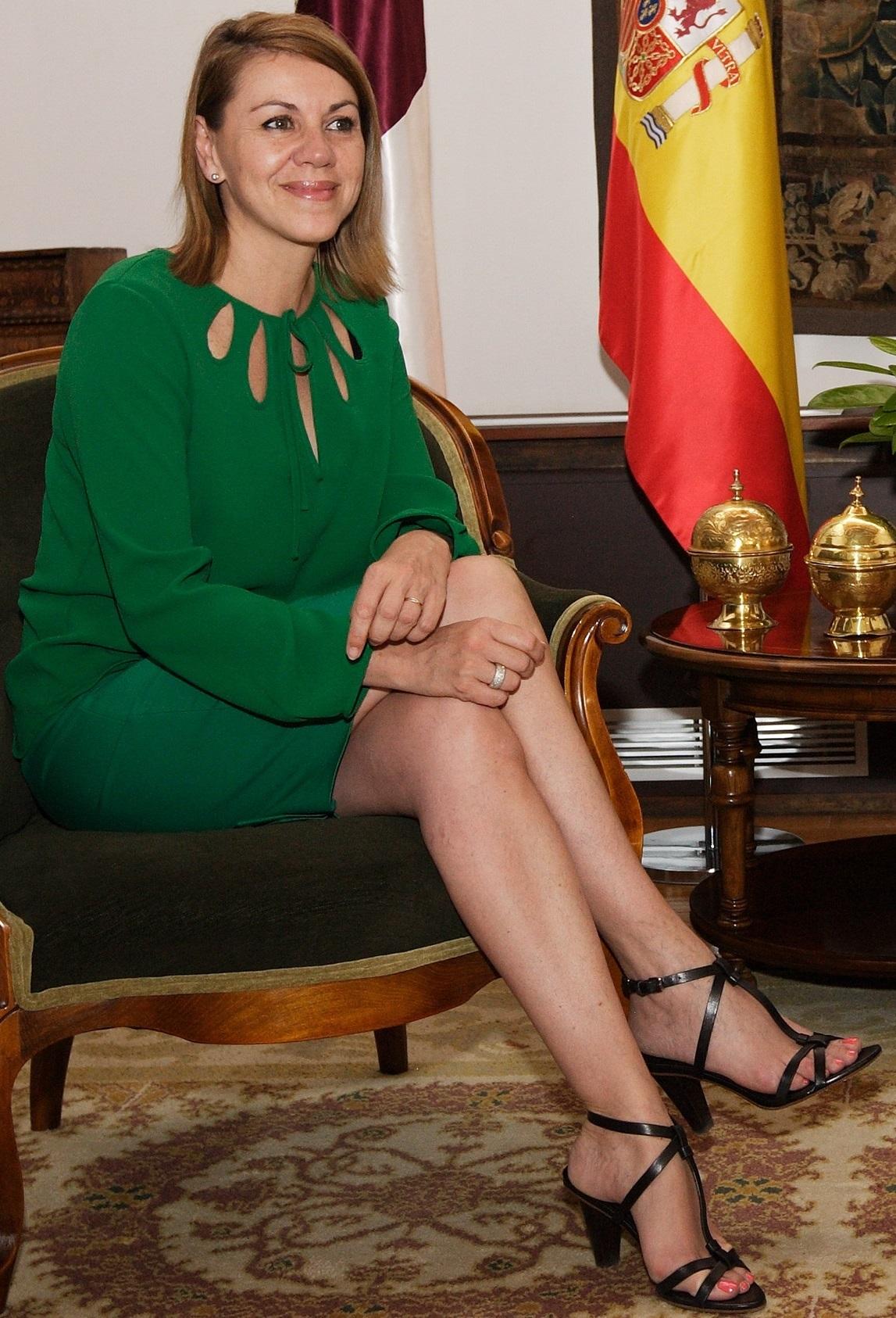 Toledo, 14-06-2012. - La presidenta de Castilla-La Mancha, María Dolores Cospedal, durante la reunión con el embajador de Corea del Sur en España, Oh Dae-Sung. (Foto: H. Fraile // JCCM)