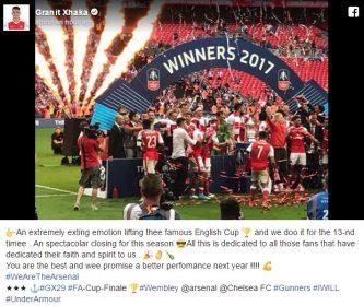 Arsenal mposht Chelsean dhe fiton Kupën FA, Xhaka: Emocion jashtëzakonisht i madh