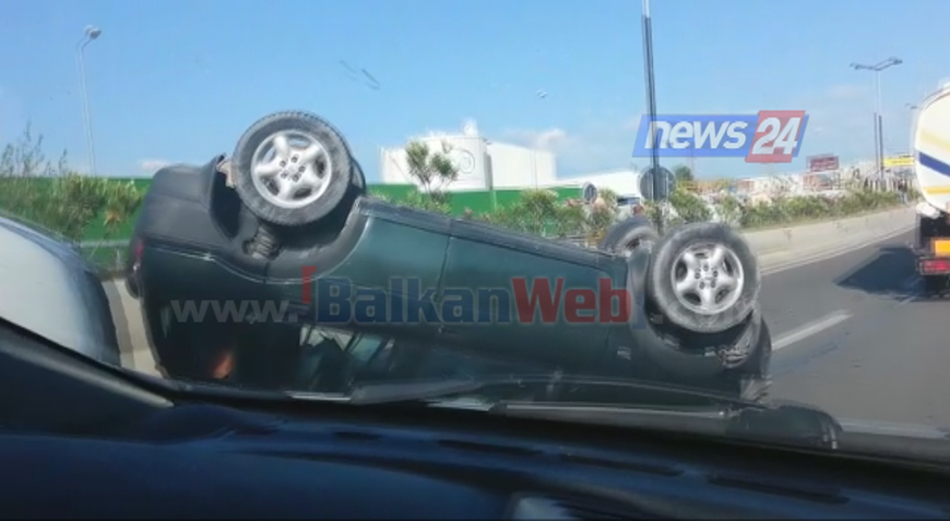 aksident ne autostrade makina permbys