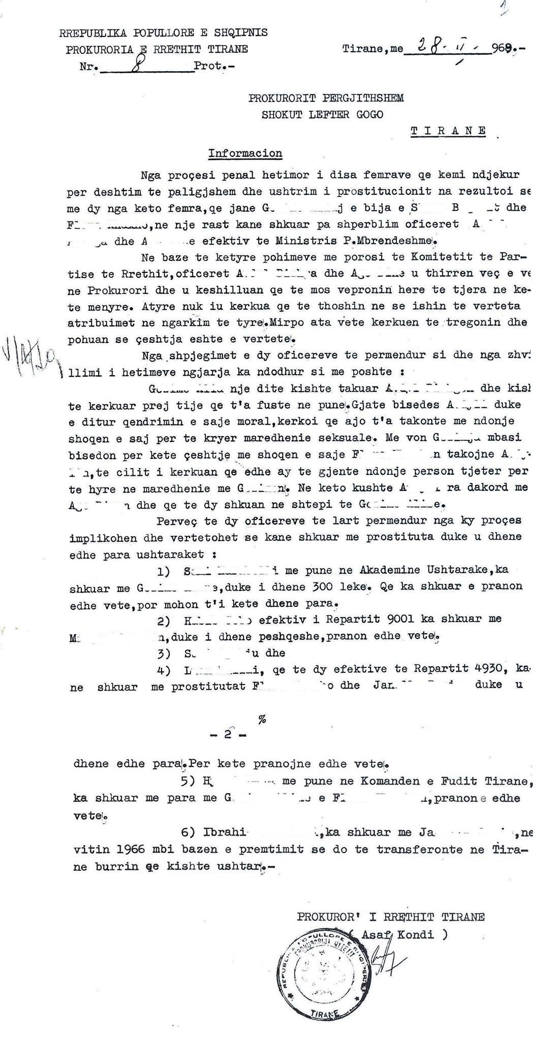 dokumenti prostitucioni