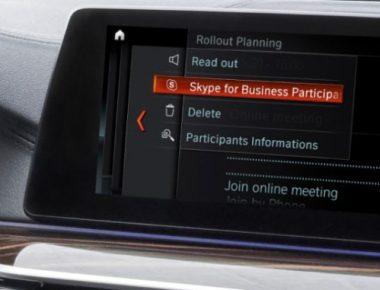 BMW Skype