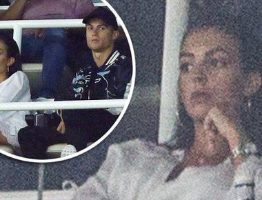 Mandatory Credit: Photo by REX/Shutterstock (8999193p) Cristiano Ronaldo of Real Madrid and his girlfriend Georgina RodrÌguez Real Madrid v Barcelona, Spanish Super Cup Second Leg, Football, Santiago Bernabeu Stadium, Madrid, Spain - 16 Aug 2017