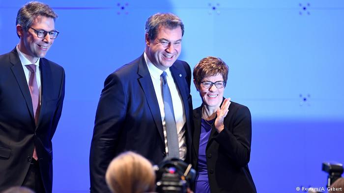 Annegret Kramp Karrenbauer, Kryetarja E Re E Cdu Dhe Markus Söder