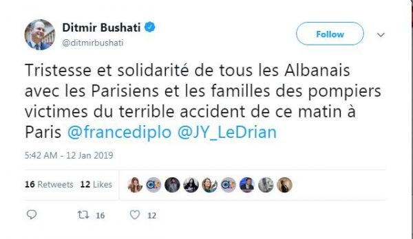Ditmir Bushati Twitter