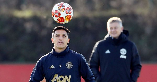 0 Champions League Manchester United Training