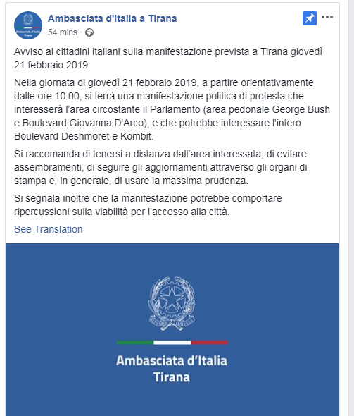 Ambasada Italiane