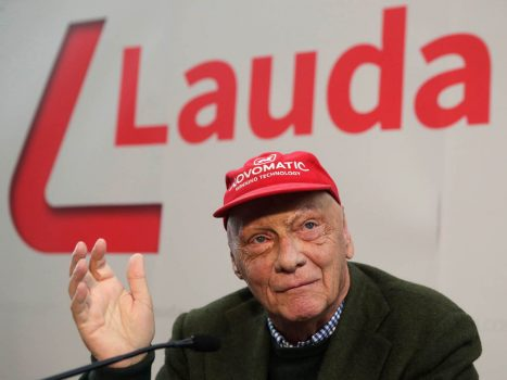 File Photo: Niki Lauda Addresses A News Conference In Vienna