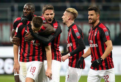 Soccer: Italy Cup Quarter Finals; Milan Napoli
