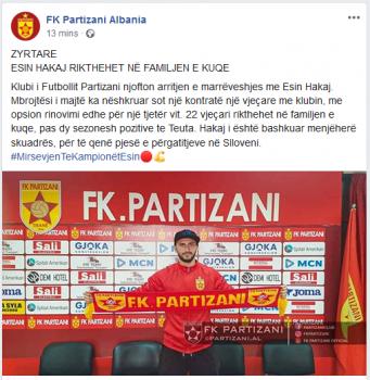 Partizani Hakaj