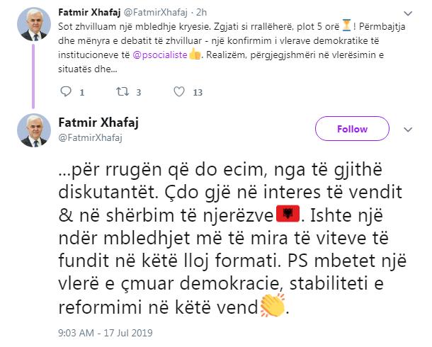 Xhafaj Twitter