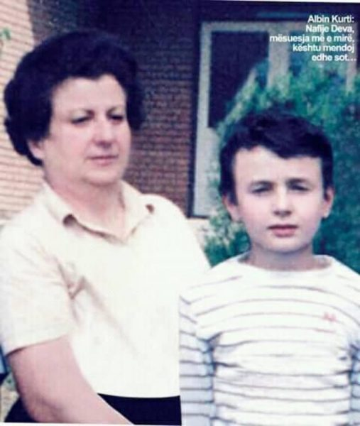 Albin Kurti, Nafije Deva