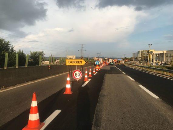 Mbarojnë punimet  hapet trafiku në autostradën Tiranë Durrës
