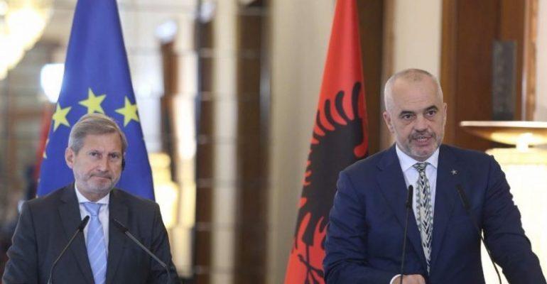 Hahn vizitë zyrtare në Tiranë  çfarë diskutoi me Ramën