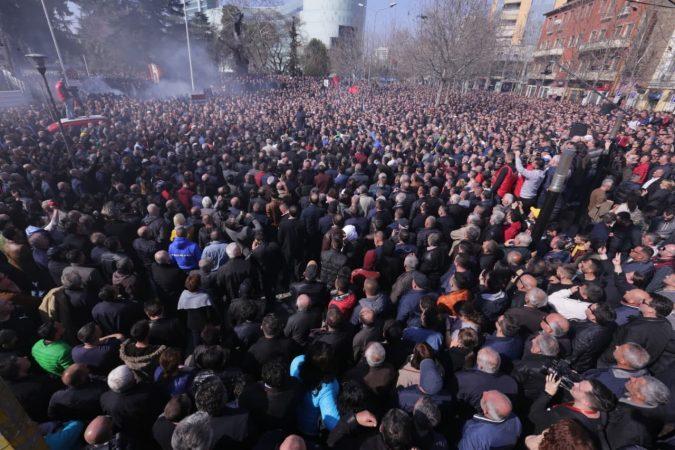 Rezultate imazhesh për protesta e opozitws