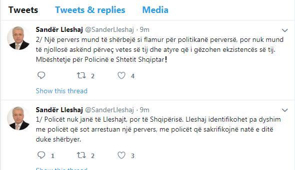 Sander Lleshaj Twitter