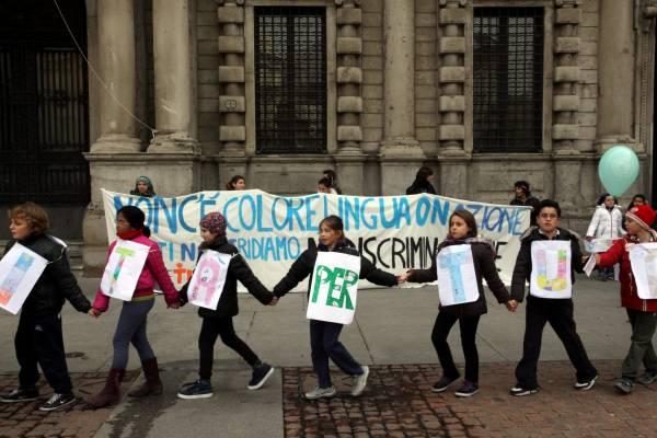 958556 Marcia Dei Diritti, Corteo Di Bambini E Ragazzi Delle Scuole Milanesi, Per L'anniversario Della Convenzione Onu Sui Diritti Dell'infanzia