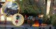 Zjarr Pema Protesta Opozita