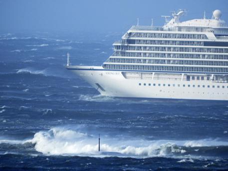 Cruise Ship Drifting Towards Land