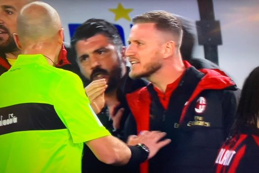 Chievo Milan Gattuso Allontanato 1