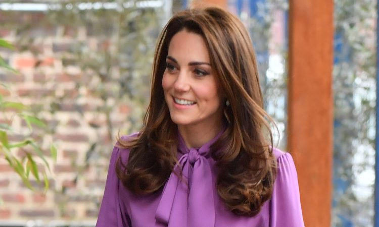 Kate Middleton Purple Top T