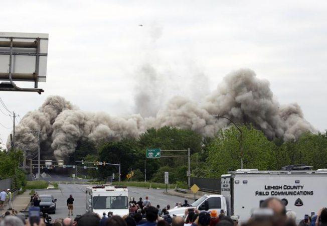 Steelmaker's Headquarters Implosion