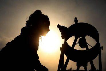 Daytime Astronomical Observation In Santiago De Chile