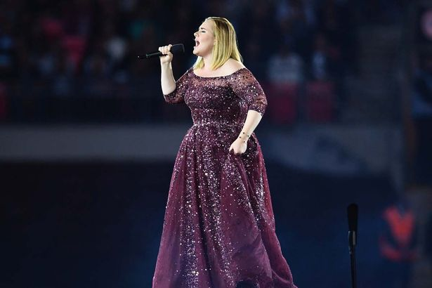 Adele Performs At Wembley Stadiumnew