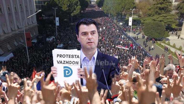 Basha Proteste