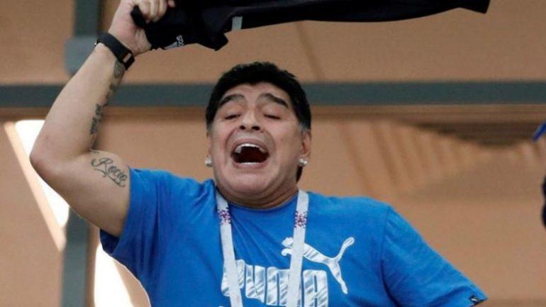 Diego Maradona Mundial Rusia 2018 Seleccion Argentina Nigeria