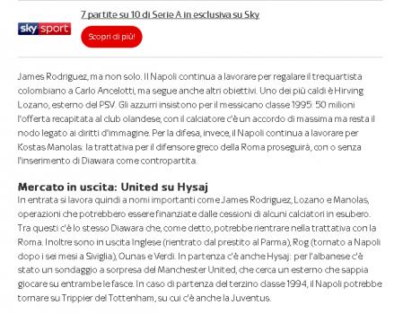 Hysaj Sky Sport