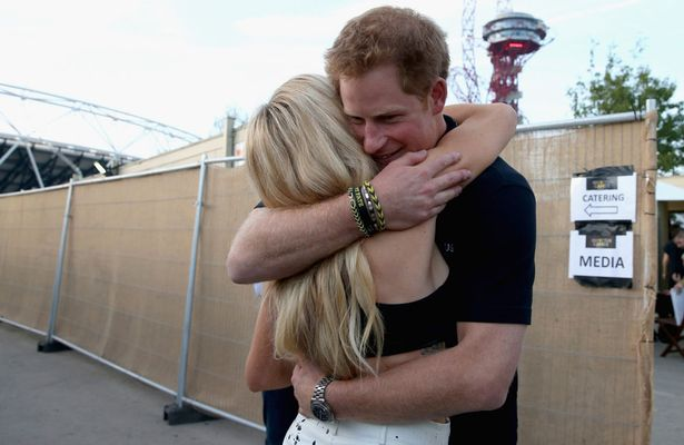 Prince Harry Hugs Ellie Goulding