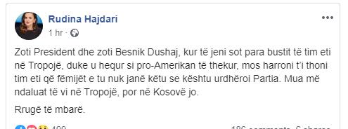 Rudina Hajdari Fb