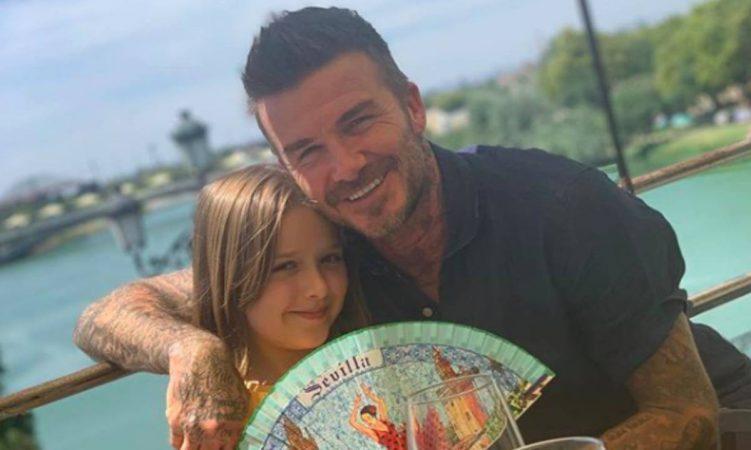 David Beckham Present Harper T