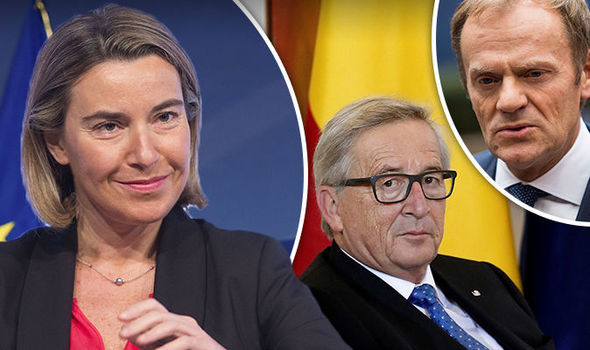 Federicha Mogherini Jean Claude Juncker Italy European Union 740698