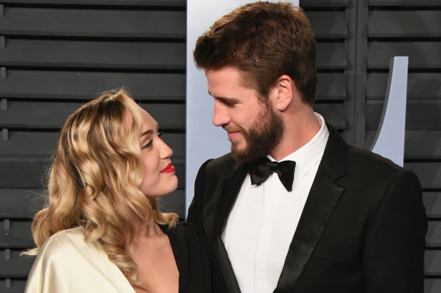 Miley Cyrus Liam Hemsworth 1