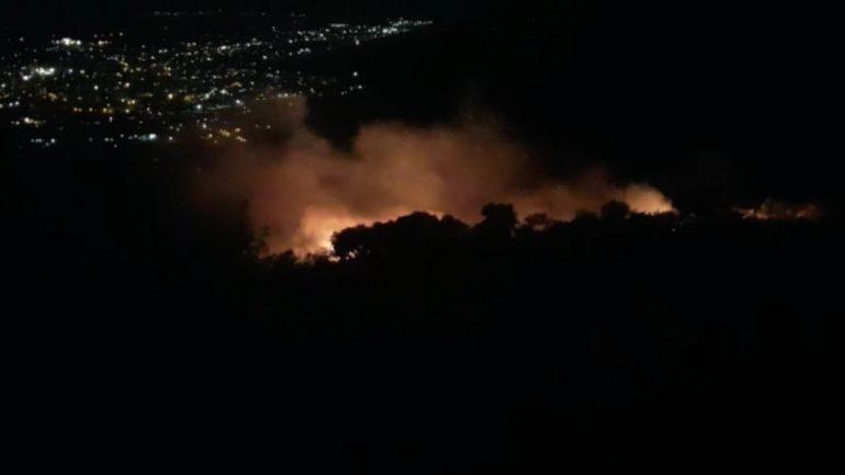 Digjet 1 Ha ullishte në Elbasan  policia dyshon për zjarrëvënie të qëllimshme