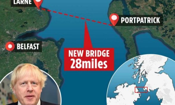 Boris Johnson Could Build Bridge Between Scotland And Northern Ireland 600x360 587x352