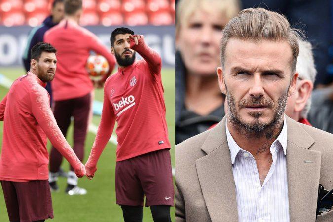 Messi Luis Suarez Beckham