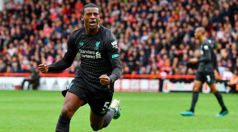 Wijnaldum Liverpool Goal Vs Sheffield United