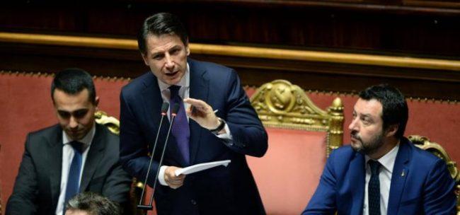 Conte Dimaio Salvini Governo Senato Lapresse 2018 696x326