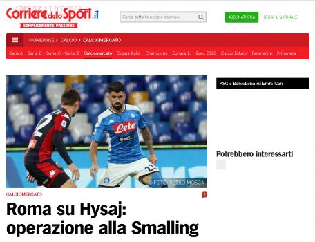 Corriere Hysaj