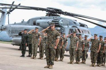 Honduran President Hernandez Welcomes Us Marines
